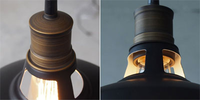 The mini barn pendant light industrial style on a budget cut out features of barn pendant light mozeypictures Choice Image
