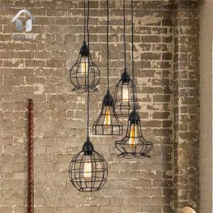 Industrial Barn Lights in a Loft
