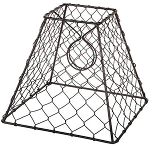 Chicken Wire Lampshade with Bulb Clip-Op