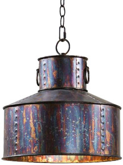 Hanging Metal Drum Lamp