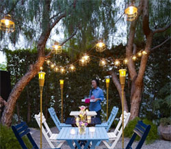 Outdoor Metal Cage String Lights