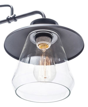 Pendant Lamp Bulb Close-Up